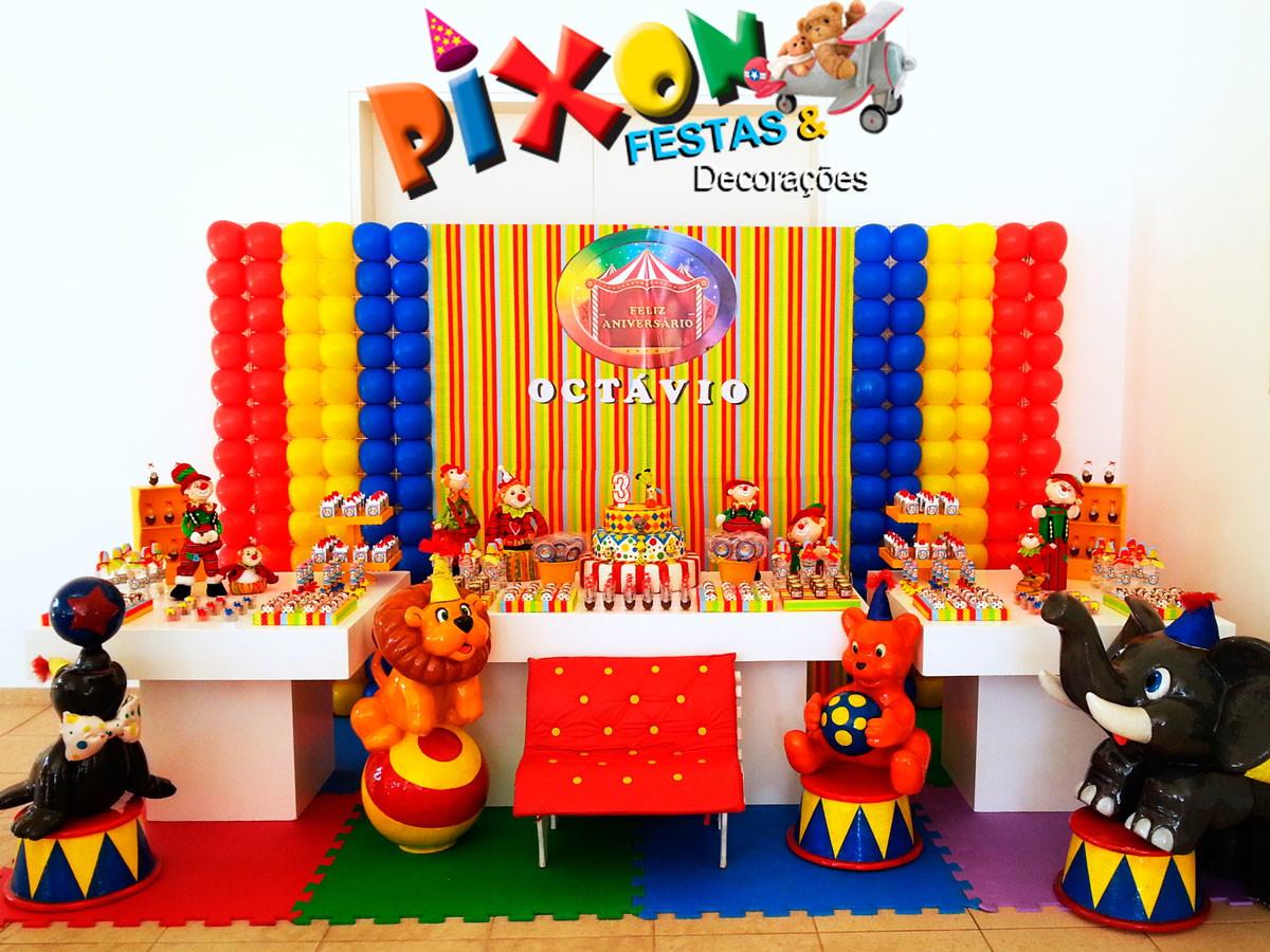 Decoraç u00e3o Circo Festa Infantil no Elo7 Decoraç u00e3o de Festas Pixon (51BB40)