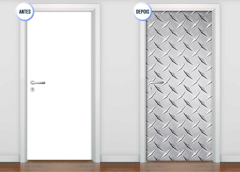Artesanato Com Jornal Passo A Passo ~ Adesivo de Porta Lar Adesivos Elo7