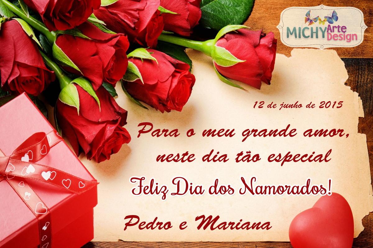 Mensagens De Amor Para Dia Dos Namorados: Cartão Digital - Dia Dos Namorados Mod.1 No Elo7