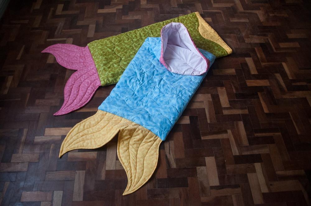 Saco de dormir rabo de peixe sereia anuska nardelli - Edredon saco infantil ...