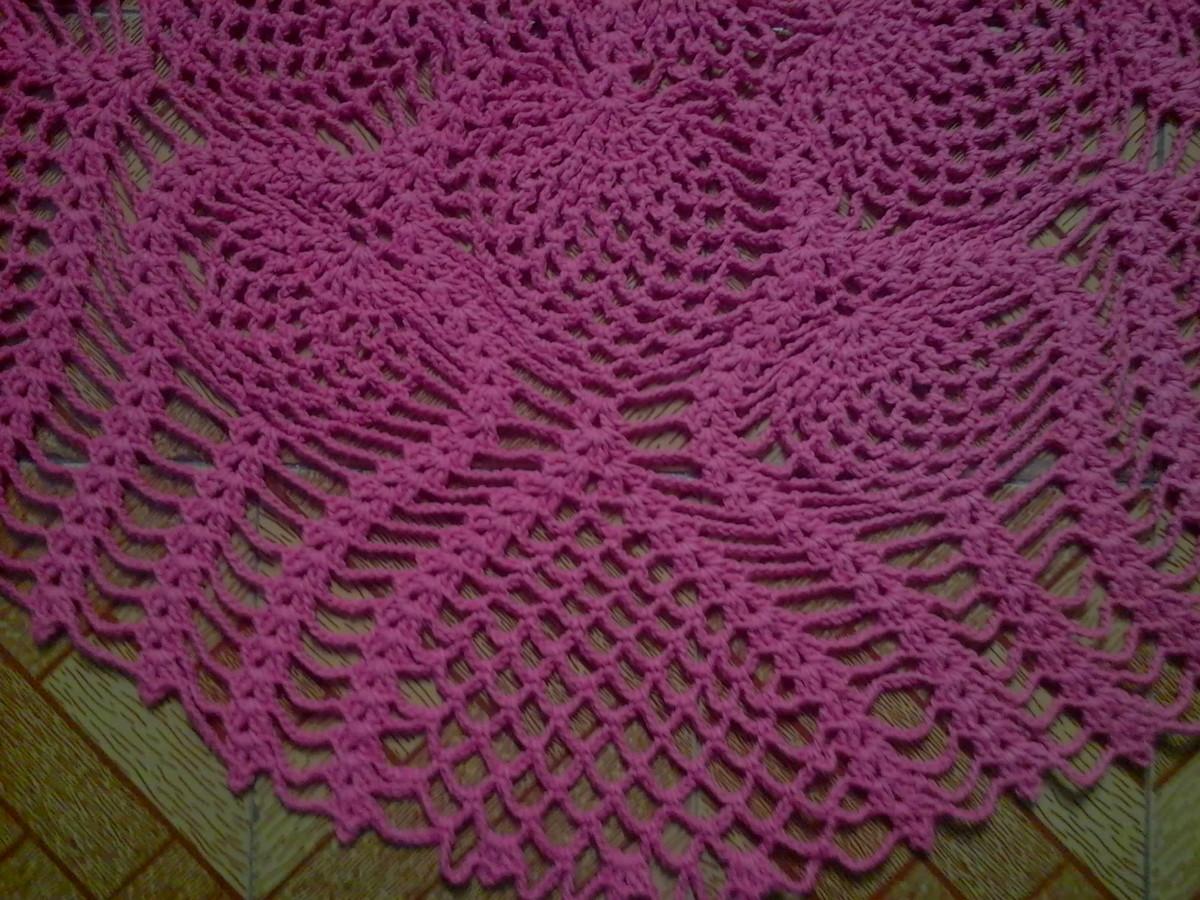 Tapete redondo em barbante pink marcia vagonite s elo7 for Tapete pink