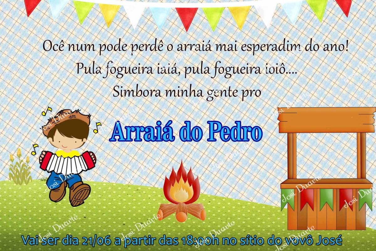 Adesivo De Festa Junina ~ Convite festa junina Ateli u00ea Josi Duarte Elo7