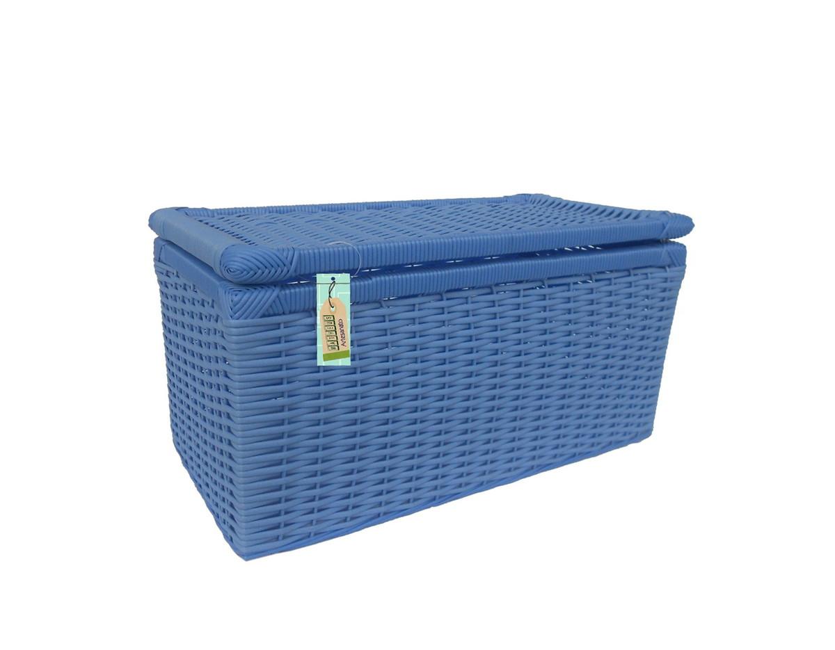 caixa fibra sintetica azul 50x25x25 artesanato caixa fibra sintetica  #10244E 1200x935