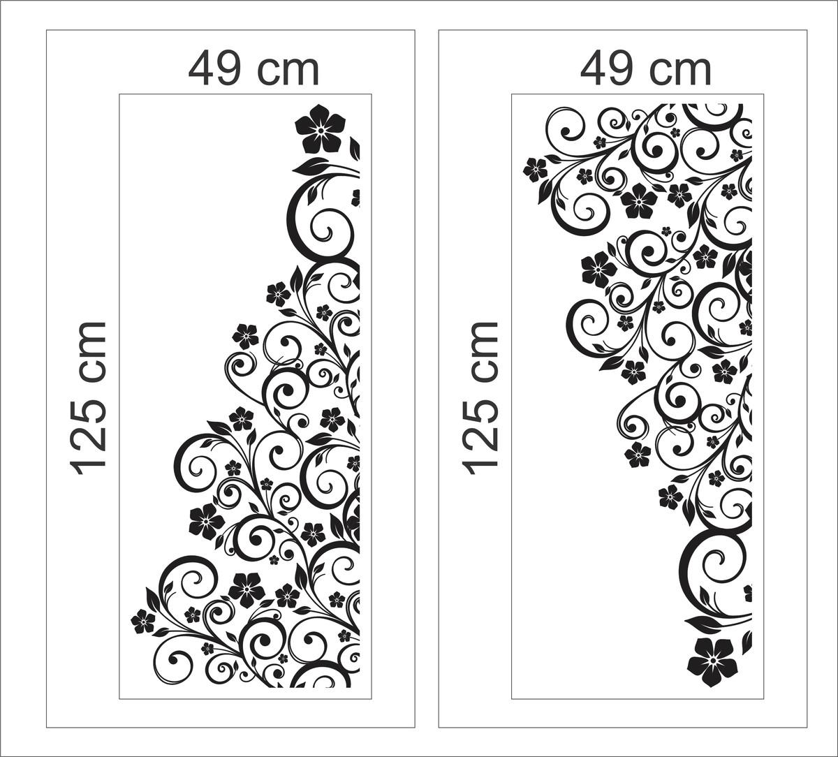 Imagens de #272727 box banheiro floral blindex adesivos de parede adesivo box banheiro  1200x1084 px 3490 Blindex Para Banheiro Maringa