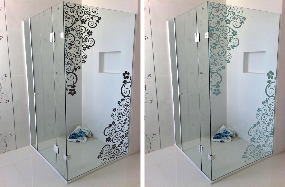 banheiro floral blindex decoracao banheiro adesivo box banheiro floral #3B4F5F 1200x789 Armario De Banheiro De Blindex