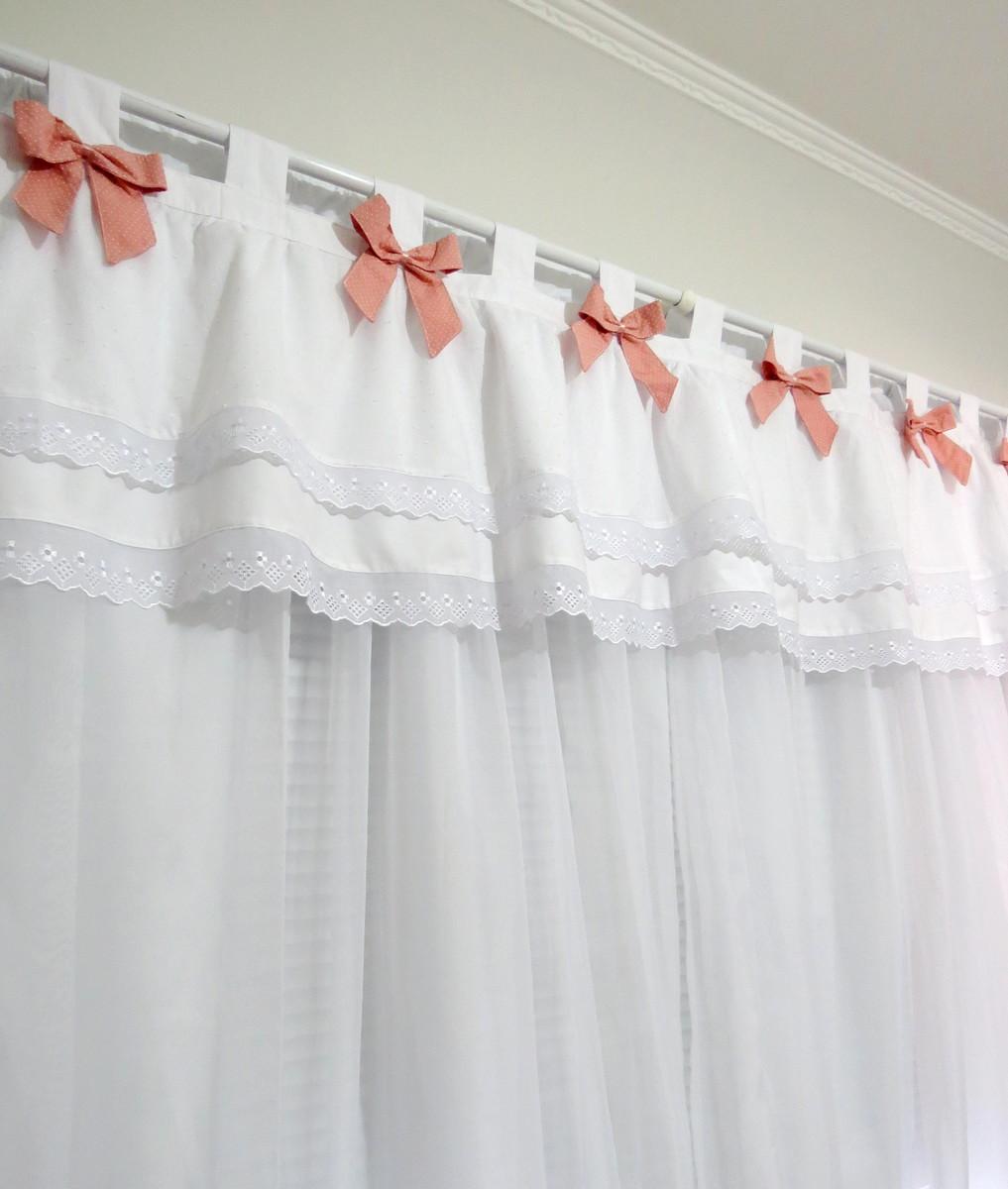 Cortina frufru de lacinhos coloridos no elo7 tia nen m - Modelos de cortinas infantiles ...