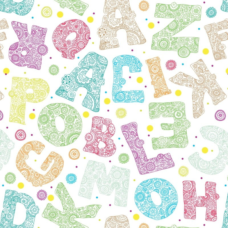 Papel de parede letras decor 01 crie decore elo7 for Papel pared infantil