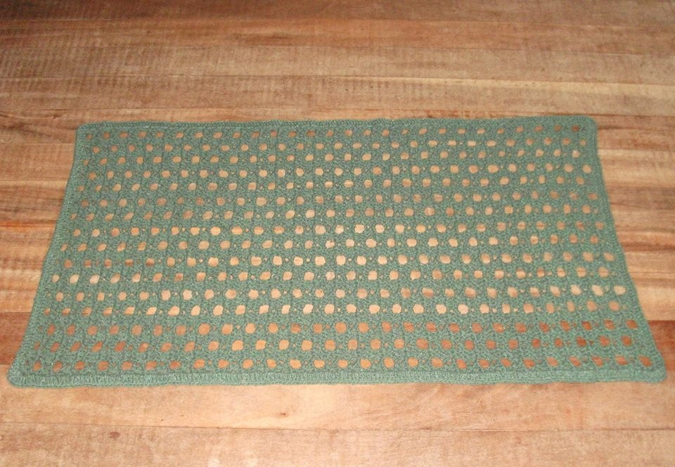 Tapete de Crochê Simples  KELLWAY  Elo7 -> Tapete Para Banheiro Croche Simples