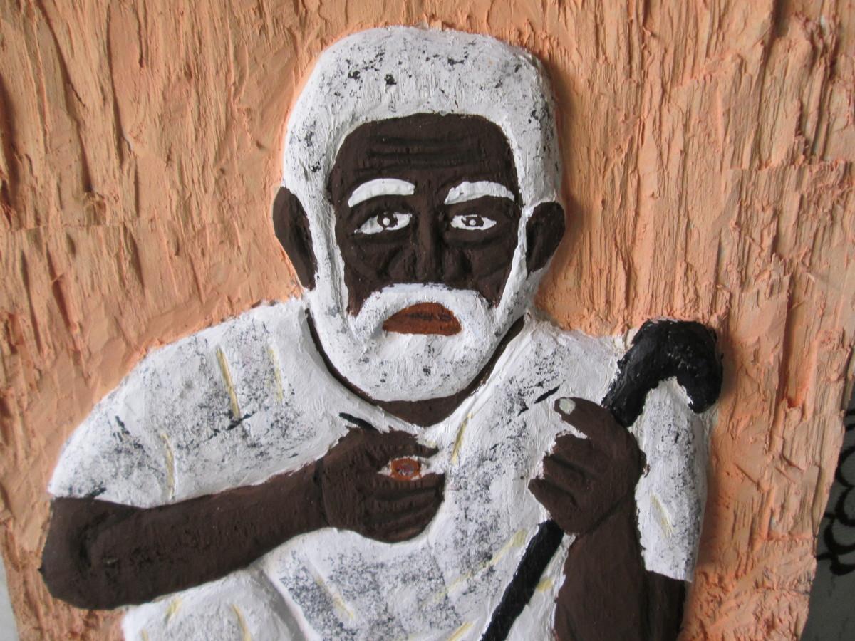 quadro em madeira preto velho religiao quadro em madeira preto velho  #8E5C3D 1200x900