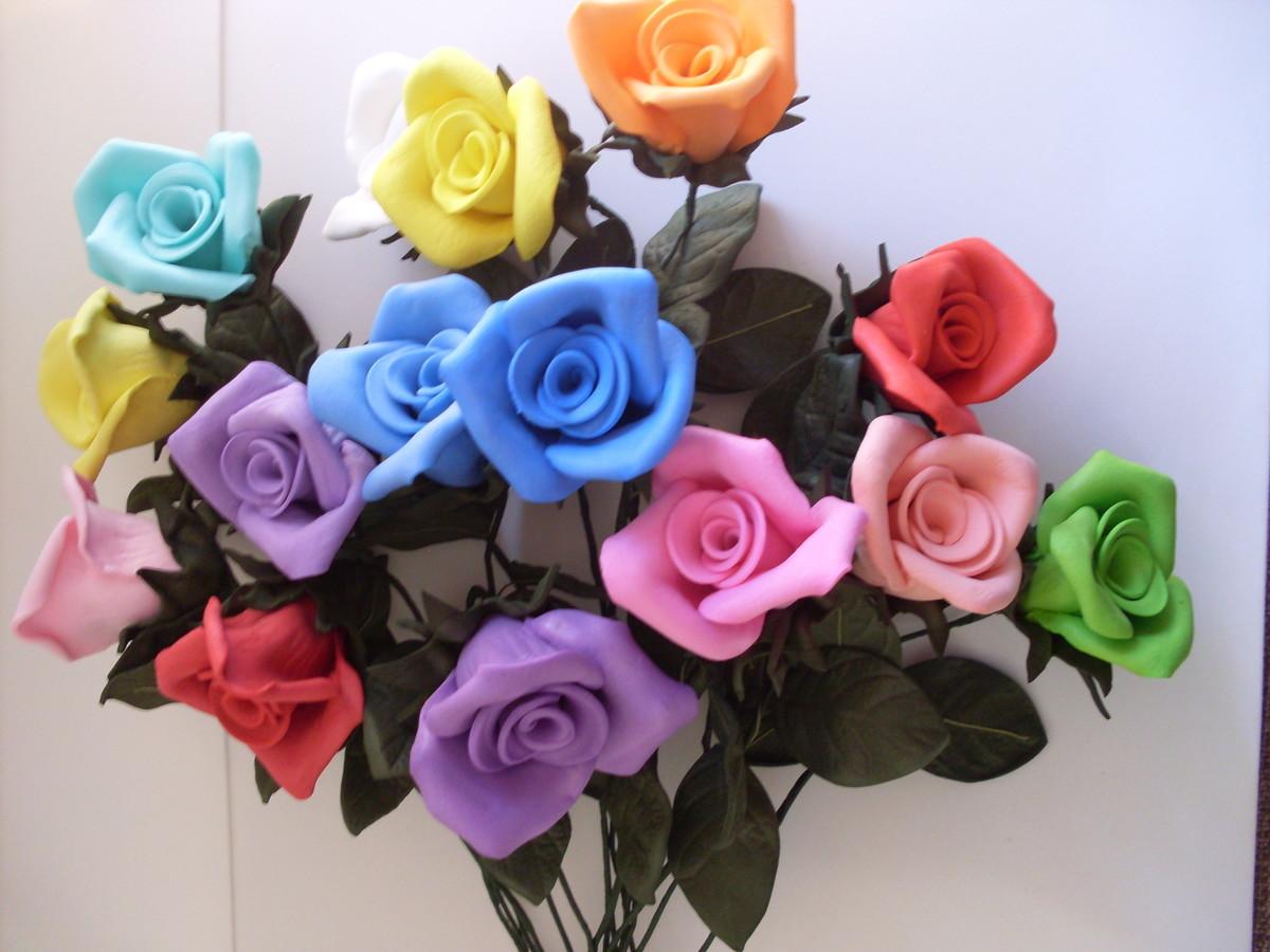 Início > Decoração > Flores em EVA > Flores em Eva - Botão M
