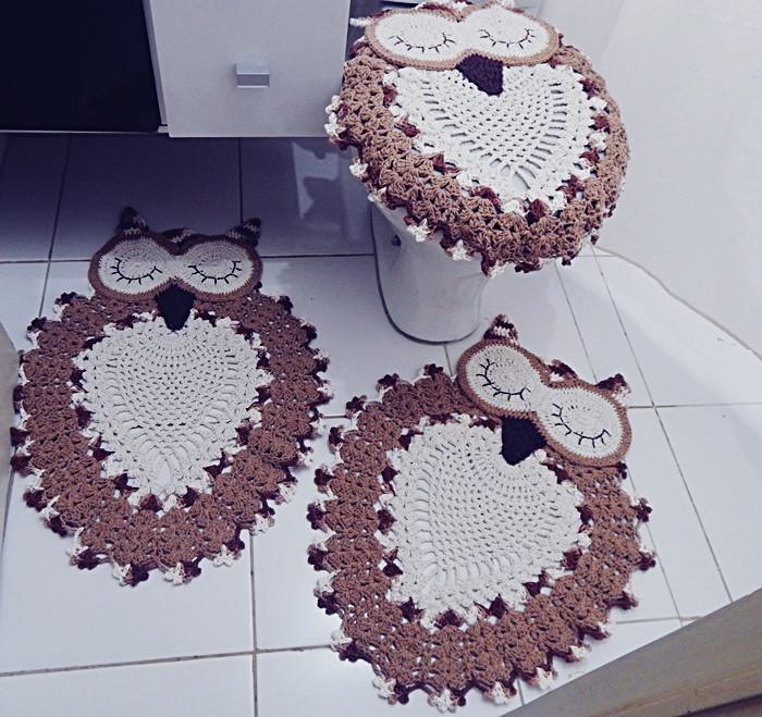 Tapete Para Banheiro Pictures to pin on Pinterest # Banheiro Decorado Com Croche