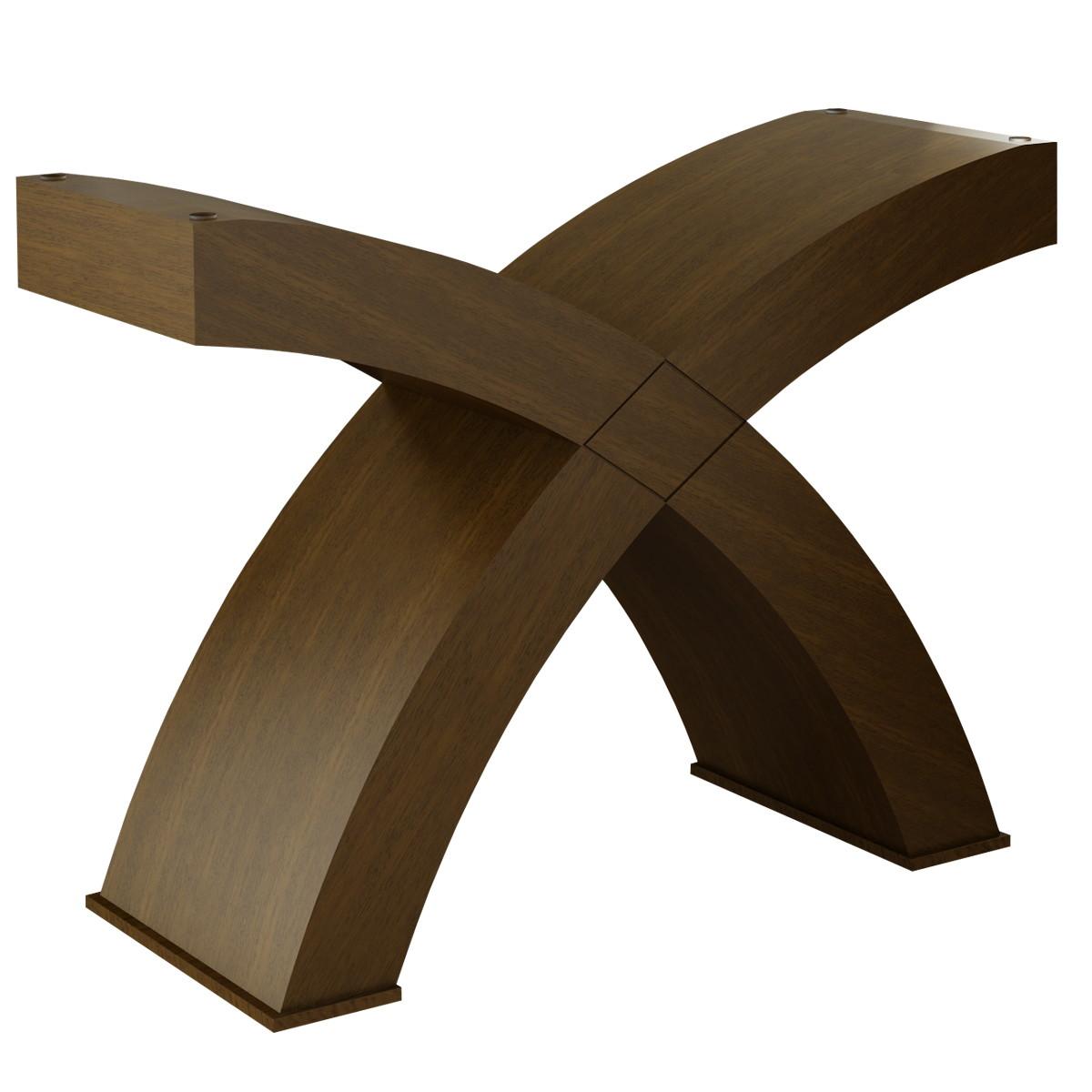 Base mesa jantar curva x moderna jeferson elo7 for Mesa moderna