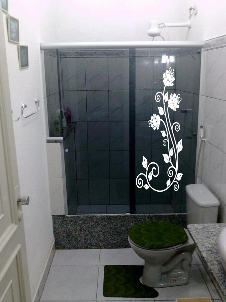 Adesivo Box Blindex banheiro  Adesivos Sempre Viva  Elo7 -> Decoracao Para Box De Banheiro