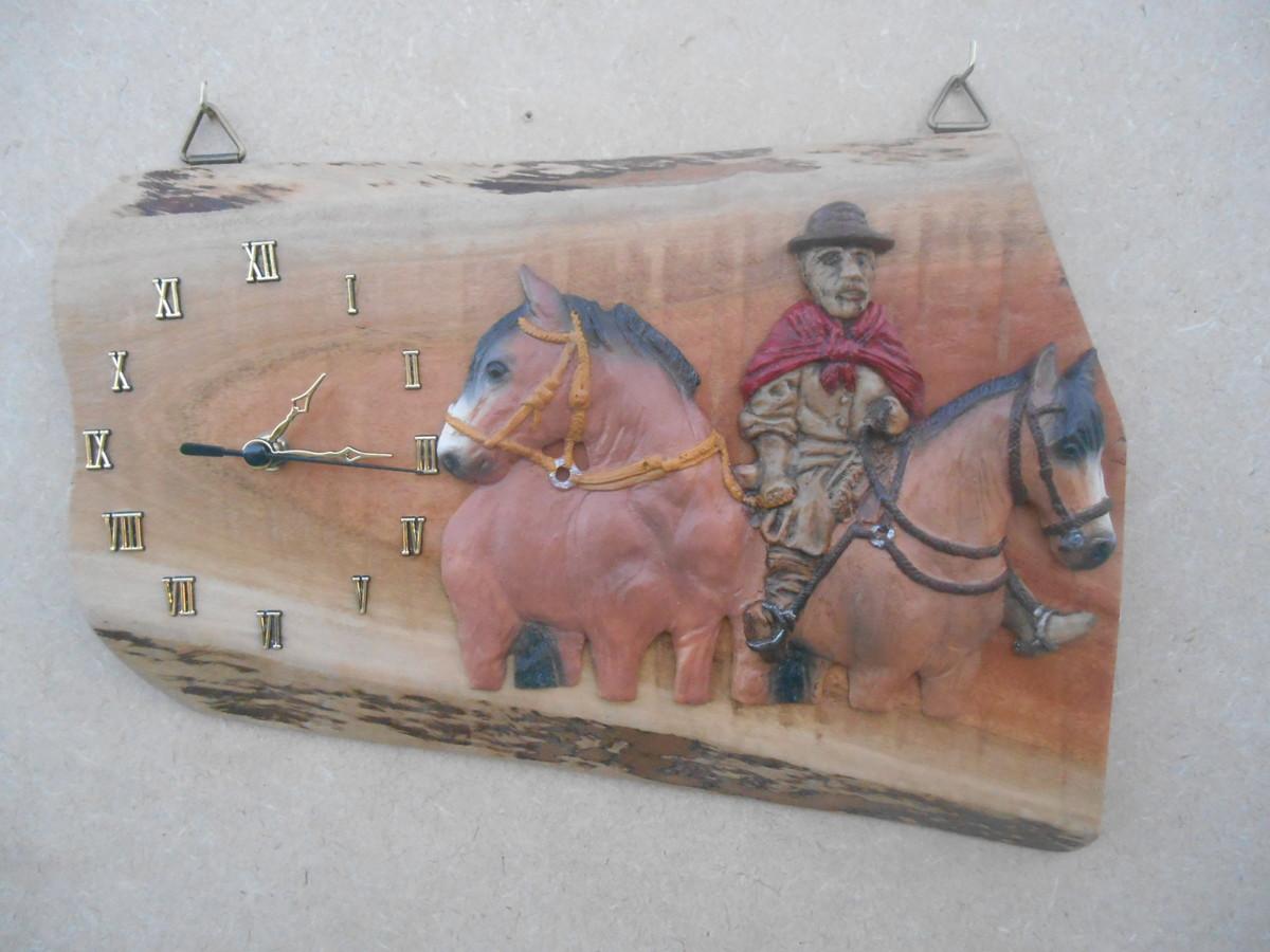 Artesanato Lider Sao Paulo ~ Relógio Parede Cavalos 1 Alegrete Artes Elo7