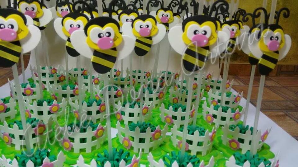 ideias para aniversario jardim encantado: Festas > Centro de Mesa > Centro de mesa abelha eva (Jd encantado