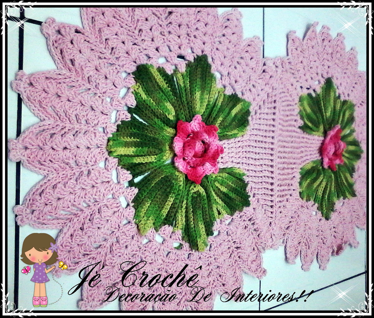 Tapete Harmônia ~ Croche Decoracao De Interiores