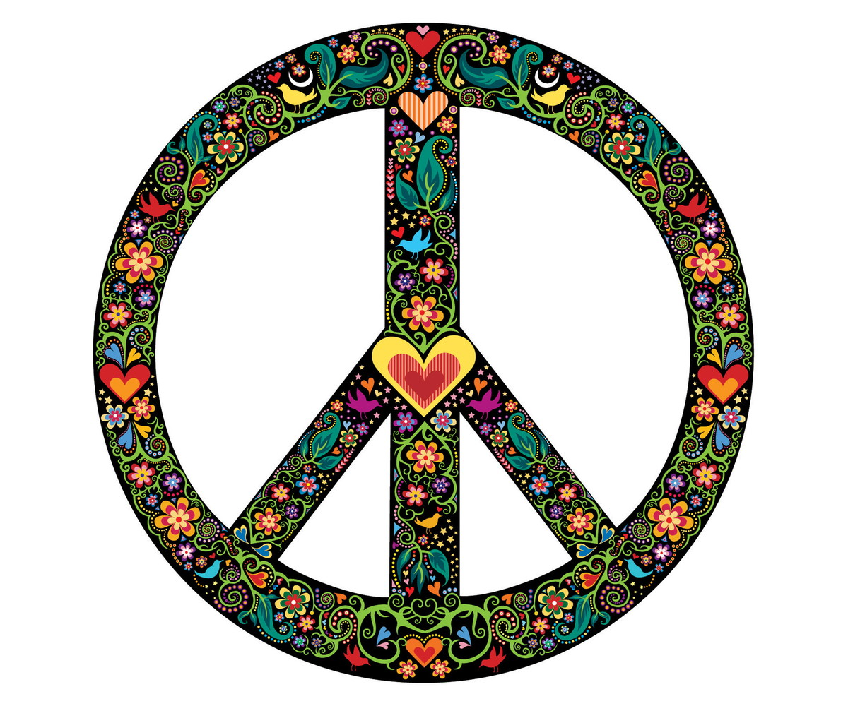 adesivo s u00edmbolo da paz fundo preto atelier solar elo7 flower power clip art black & white 70's flower power clipart