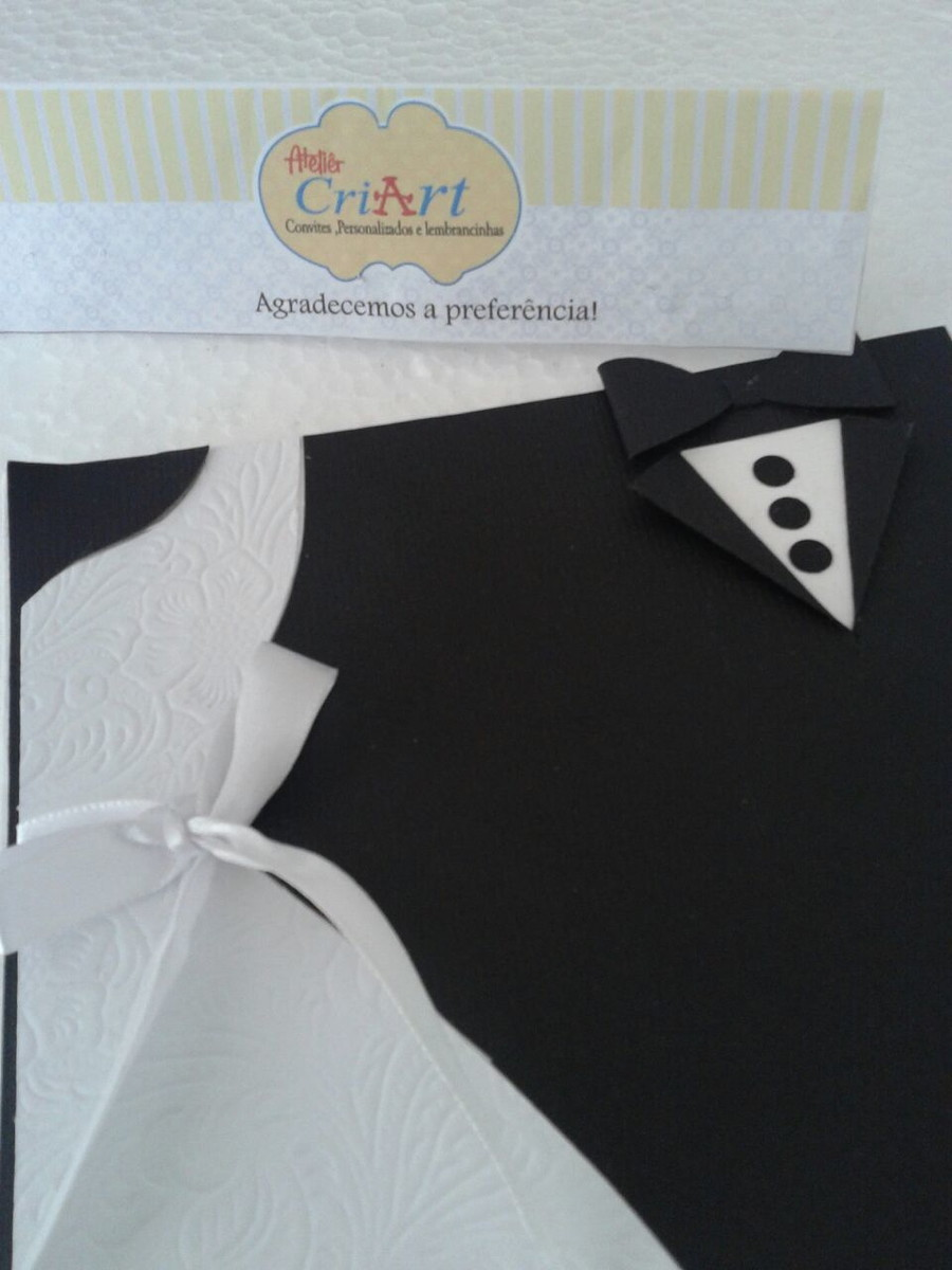 convite roupa dos noivos criart papelaria personalizada