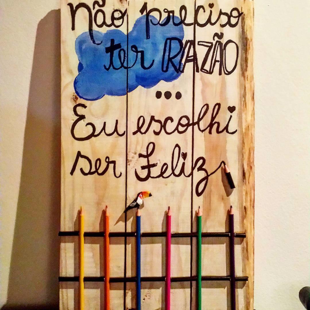 em madeir quadro eu escolhi ser feliz em madeira reciclada quadro  #9D662E 1080x1080