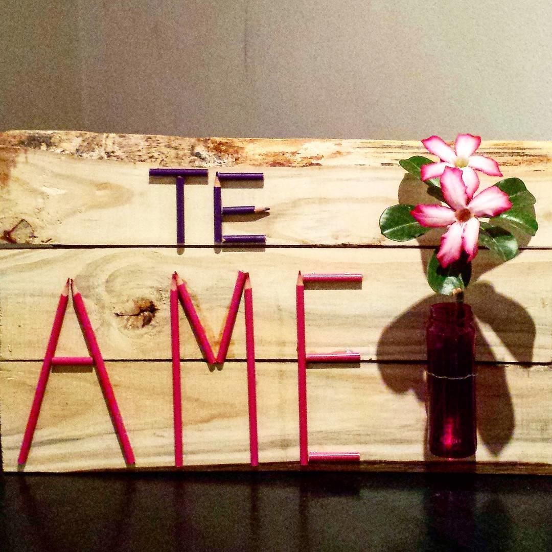quadro te ame madeira reciclada quadro te ame madeira reciclada quadro  #BA1136 1080x1080