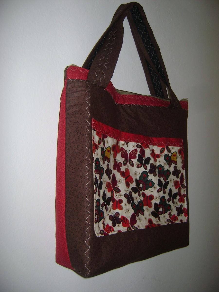 Bolsa De Tecido Forrada : Bolsa ecobag forrada com ziper c w artes elo