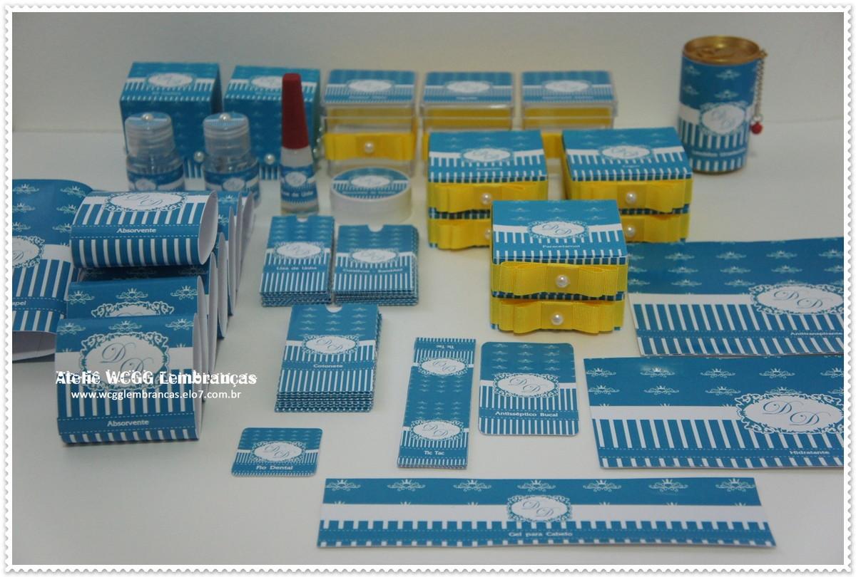 Kit Banheiro Tifany : R?tulos kit banheiro azul tiffany imperial festas elo