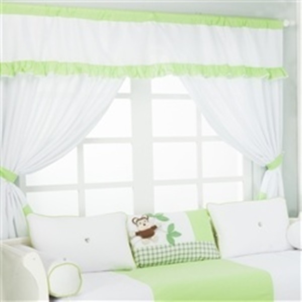 Cortina para quarto de bebe safari verde for Cortinas bebe zara home