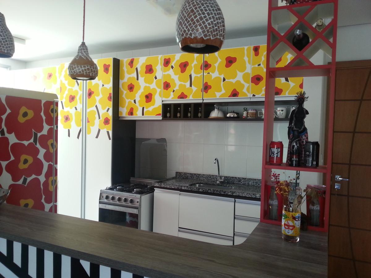 Adesivo para Armário de Cozinha FLOR DE MANACÁ MOSAICOS Elo7 #AB8A20 1200 900