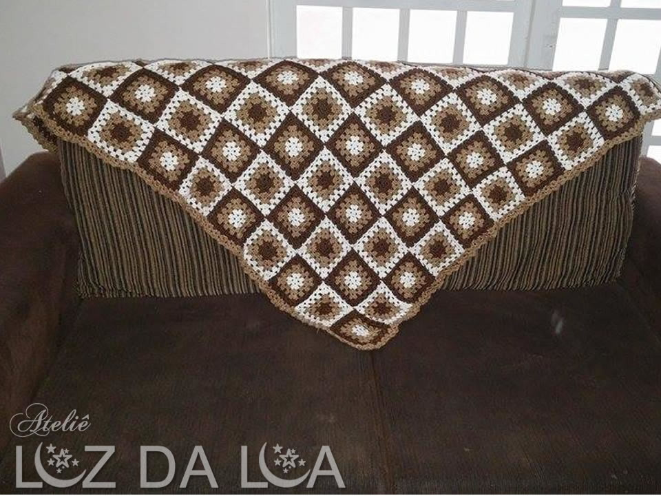 Manta de sof em croch ateli luz da lua elo7 - Manta de sofa ...