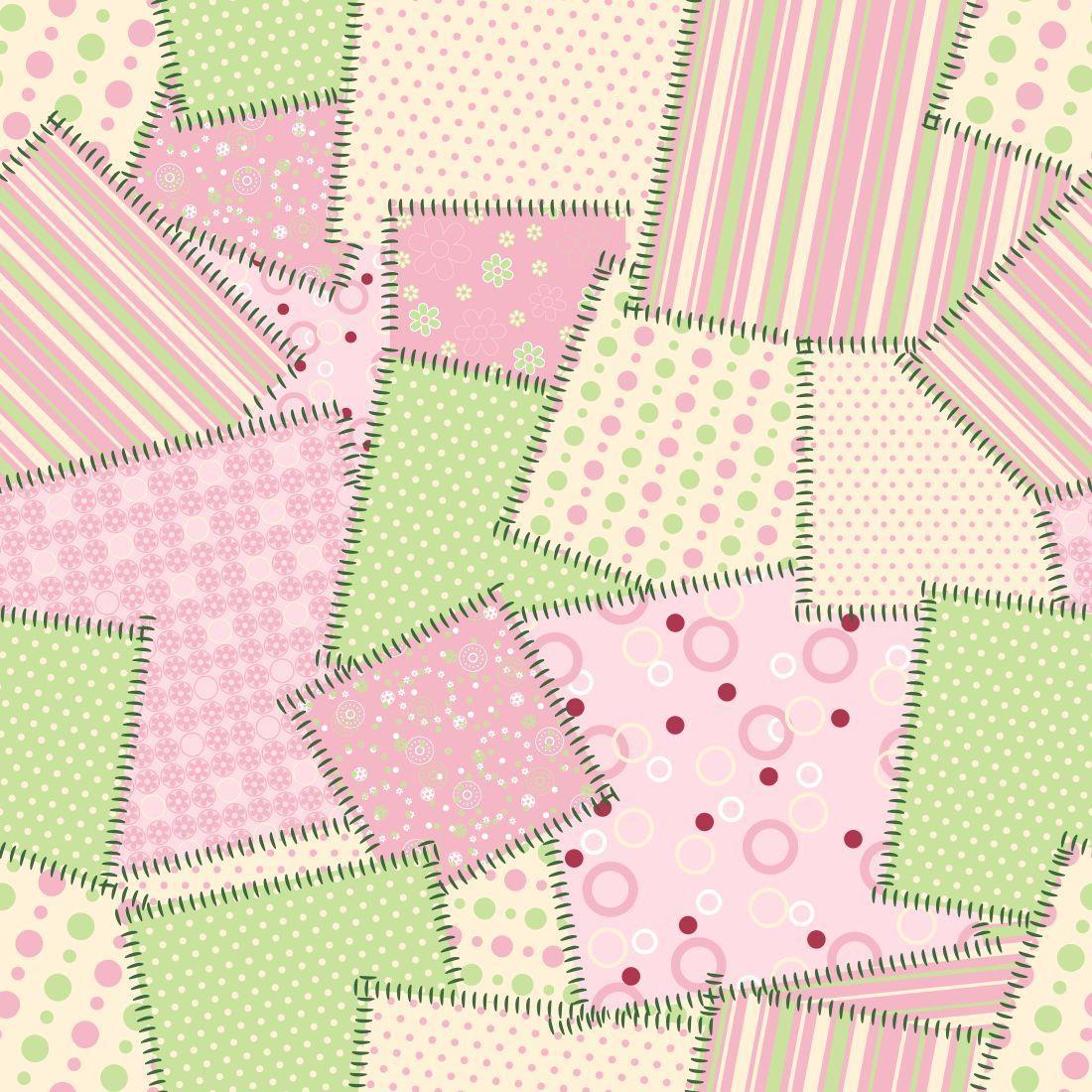 Papel de parede patchwork decor 24 no elo7 crie decore - Papel decoupage infantil ...