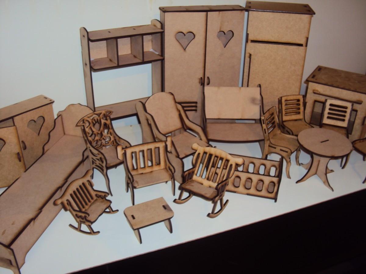 para casa de boneca 17 pc casa para montar moveis barbie para casa de  #8D643E 1200x900