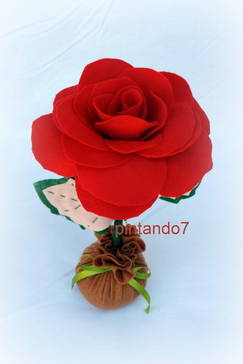A rosa centro de mesa pintando7 elo7 for Mesas de centro black friday