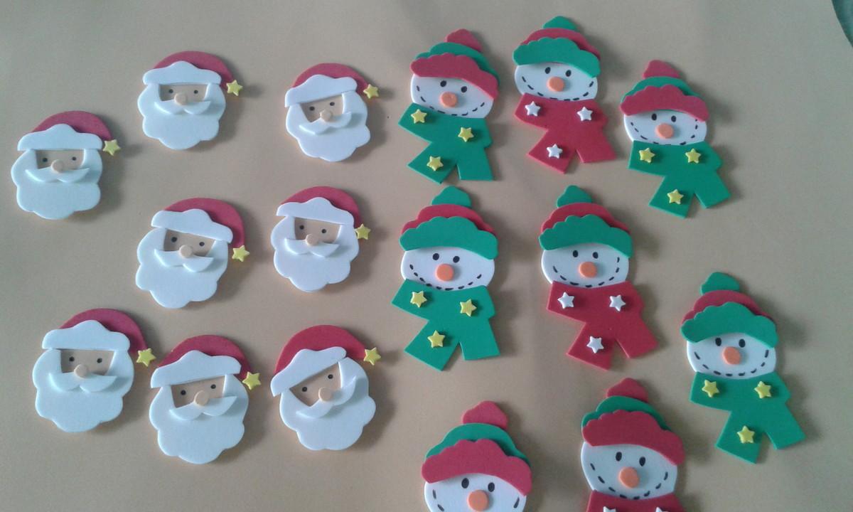 Apliques em eva de Natal no Elo7 Arte E V A (5A0725) -> Decoração Em Eva Natal