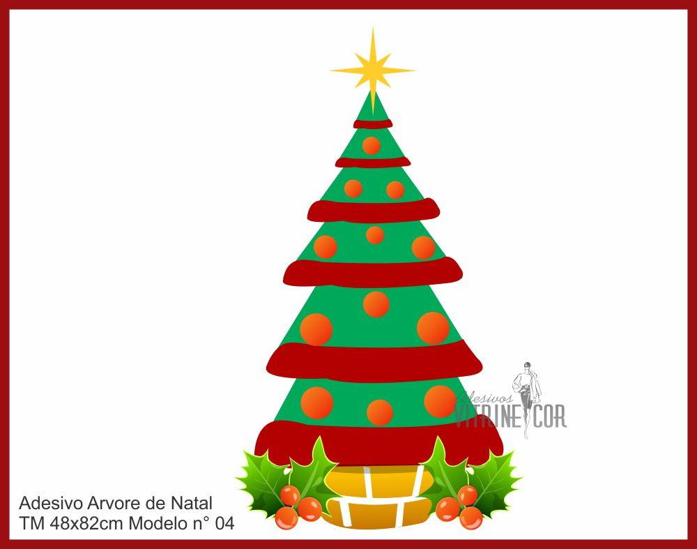 Adesivo De Natal ~ Adesivo de Vitrine Arvore de Natal Vitrinecor Elo7