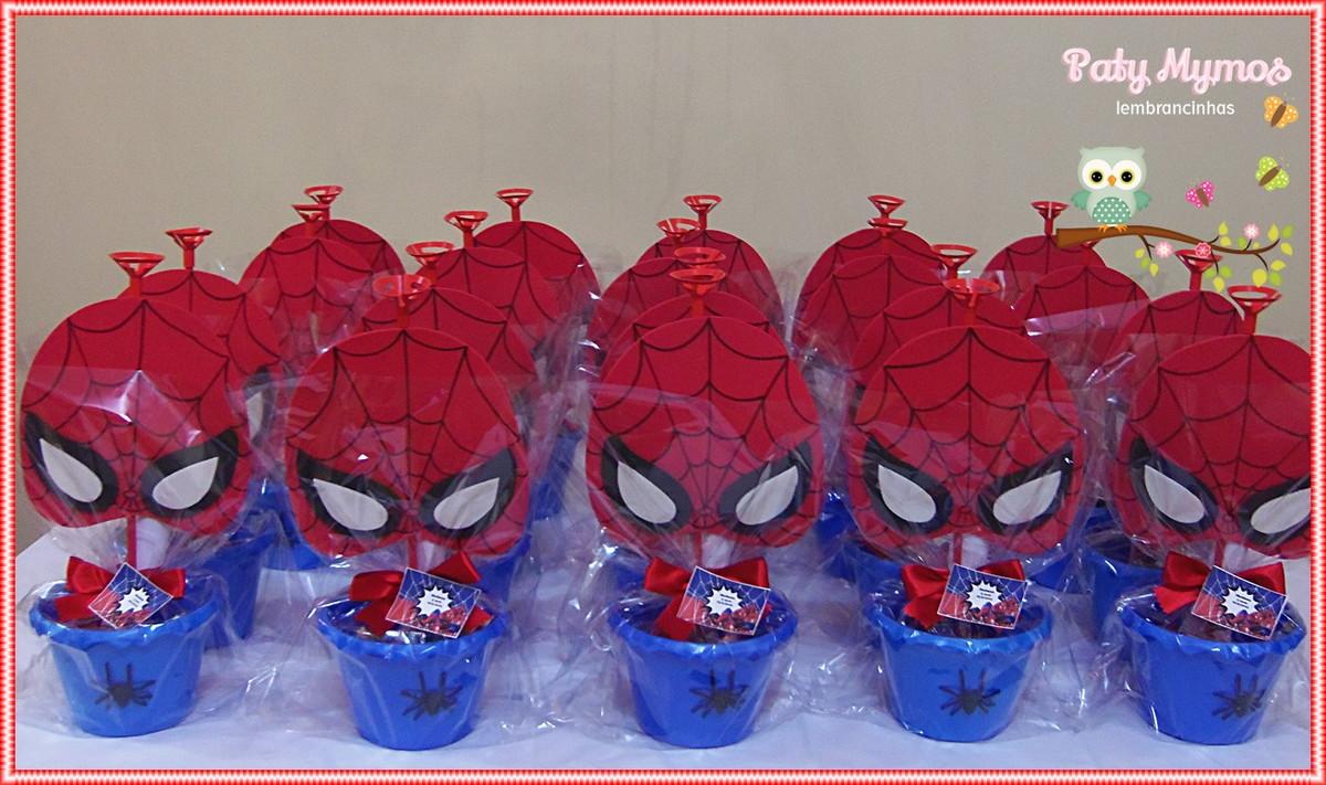 Centro de Mesa Homem Aranha no Elo7 Paty Mymos Lembrancinhas (3AD794) -> Enfeites De Mesa Do Homem Aranha