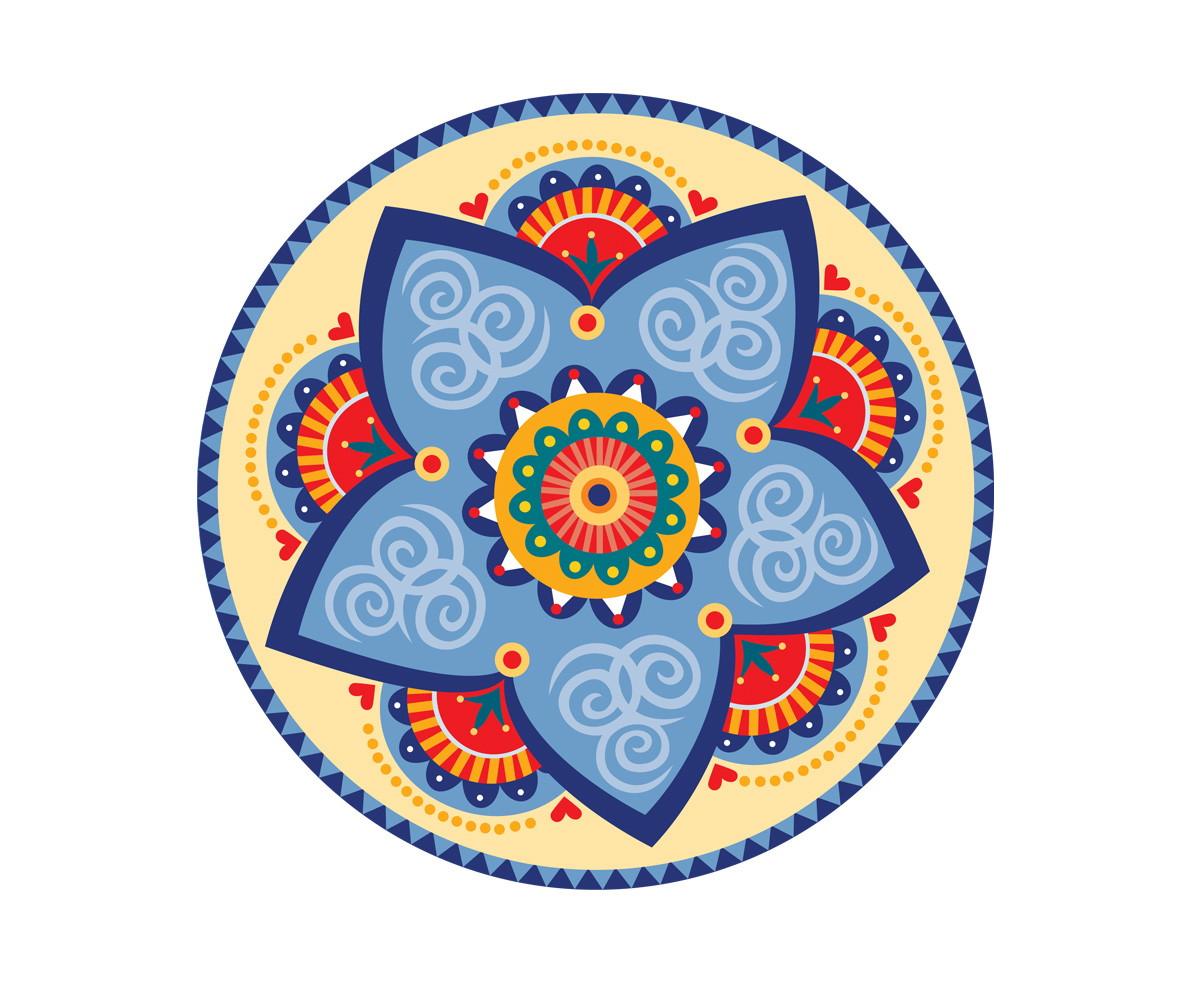 Adesivo De Porta Mandala ~ Adesivo de Mandala 20cm Atelier Solar Elo7