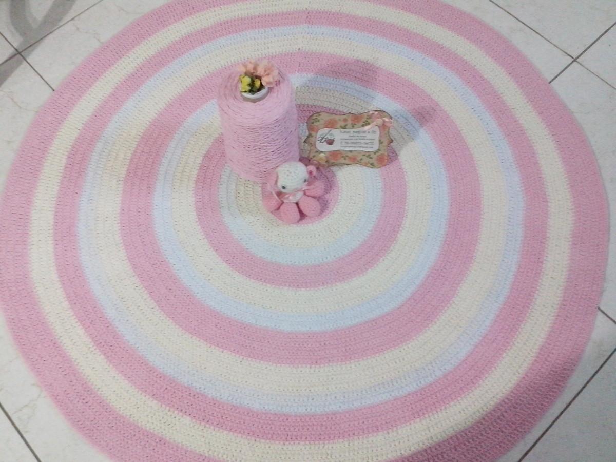 tapete croch baby meninas rosa 1 20 atelier val. Black Bedroom Furniture Sets. Home Design Ideas