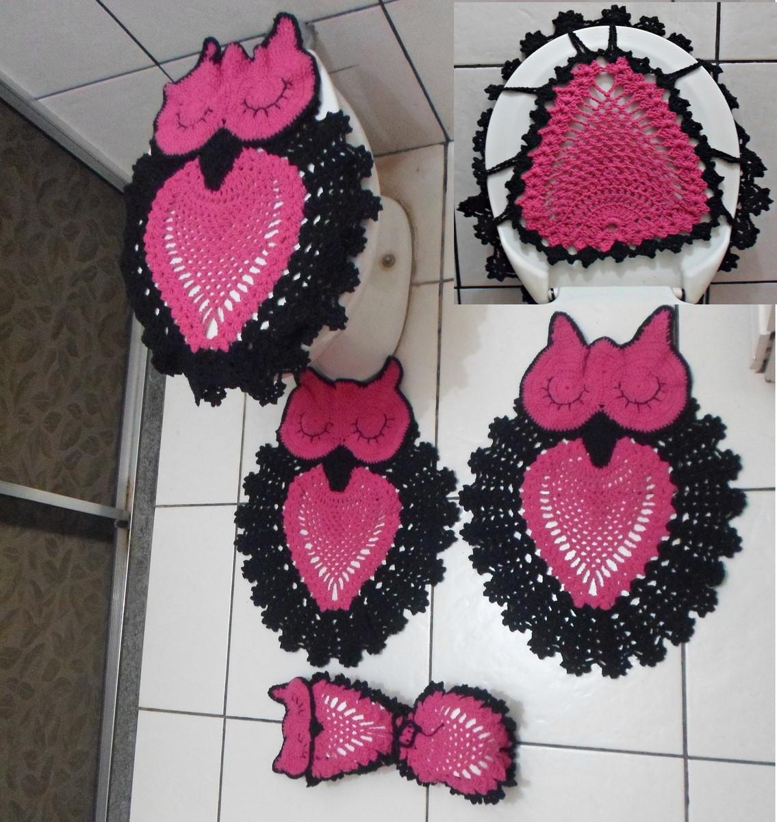 Fotos E Modelos Jogo De Tapete De Crochê Para Banheiro Fotos E  #812843 1135 1200