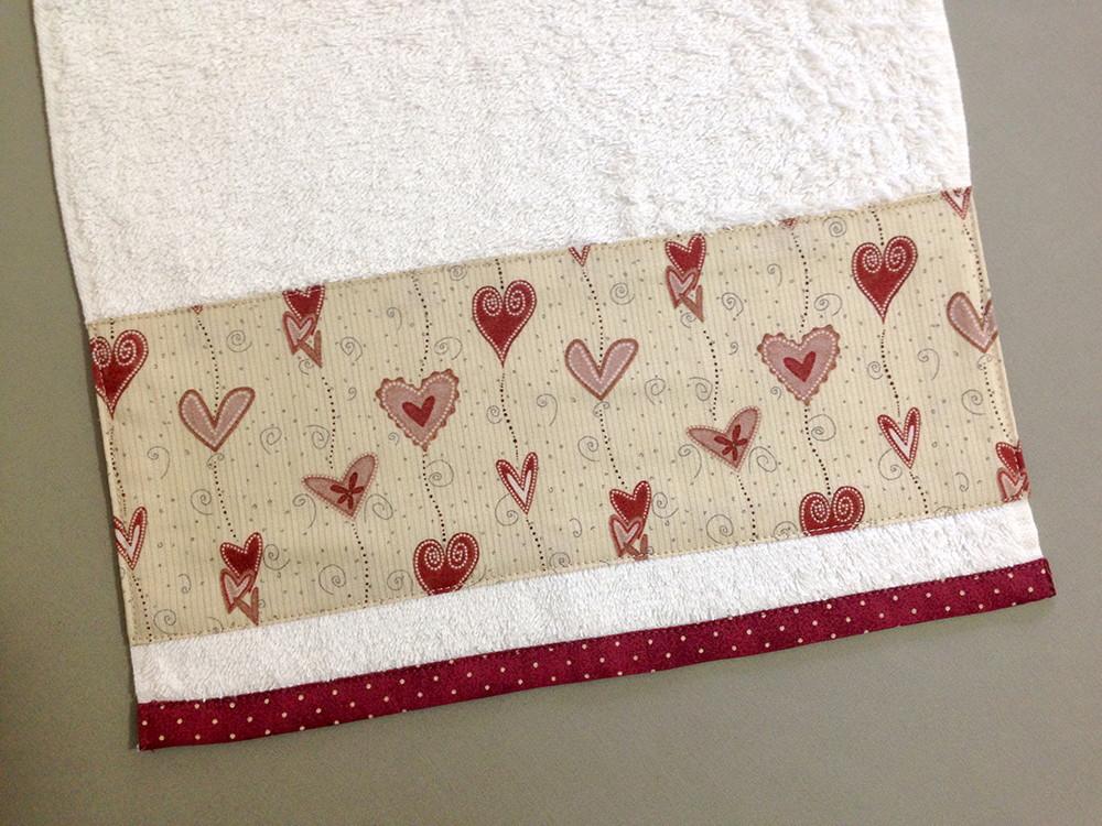 decoracao toalha lavabo:copa toalha-de-lavabo-coracoes-apaixonados-decoracao toalha-de-lavabo