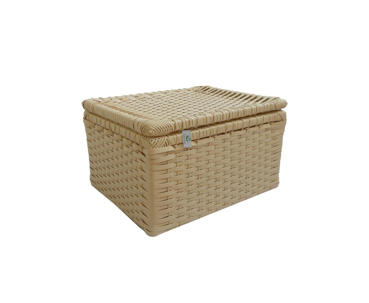 caixa sintetica branca e rosa 30x24x18 vime sintetico caixa sintetica  #4D3010 1200x988