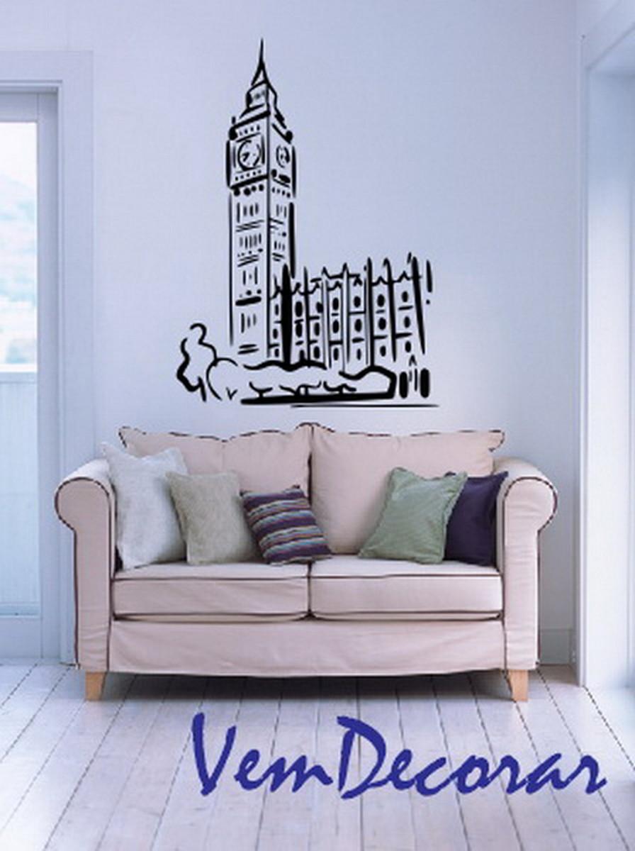 Curso Artesanato Goiania ~ Adesivo Big Ben Londres ou Torre Eiffel Vem Decorar Artigos e Adesivos Decorativos Elo7