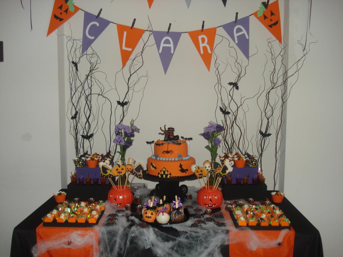 Aluguel Decoraç u00e3o Festa Halloween Blue Pink Elo7 # Decoração De Festas De Halloween