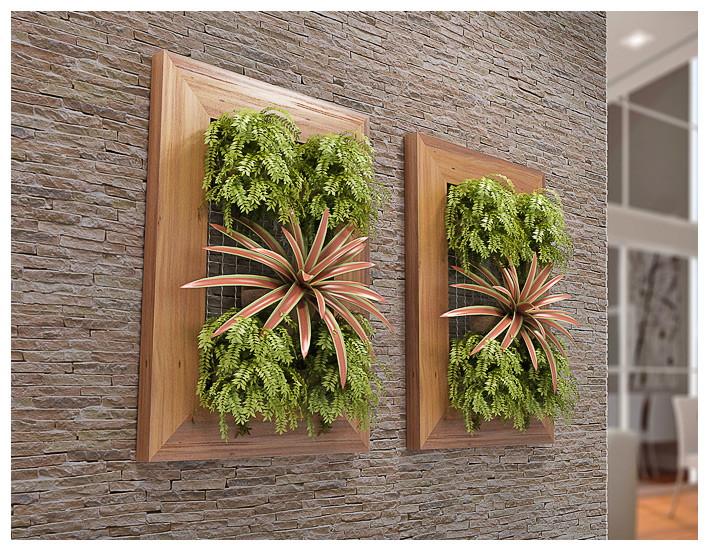 jardim vertical externo:jardim vertical 55x80cm olilo jardim suspenso painel jardim vertical