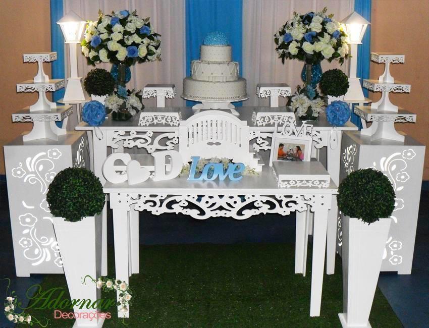 kit decoracao casamento:Decoracao Azul Turquesa