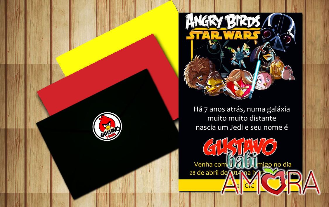 Convite angry birds star wars no elo7 babi amora 5da2fc - Angry birds star wars 7 ...
