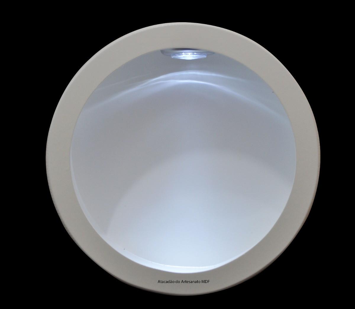 nicho redondo simp 30x30x12 bco c led nicho com led e com vidro #4F637C 1200 1044