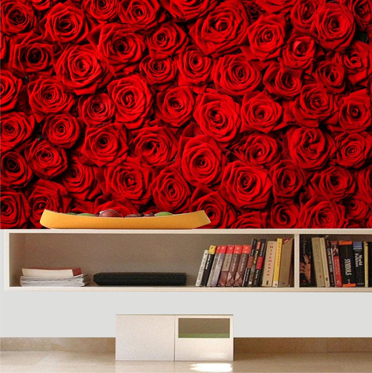 Adesivo papel parede rosas flores quartinhodecorado - Papel pared ...