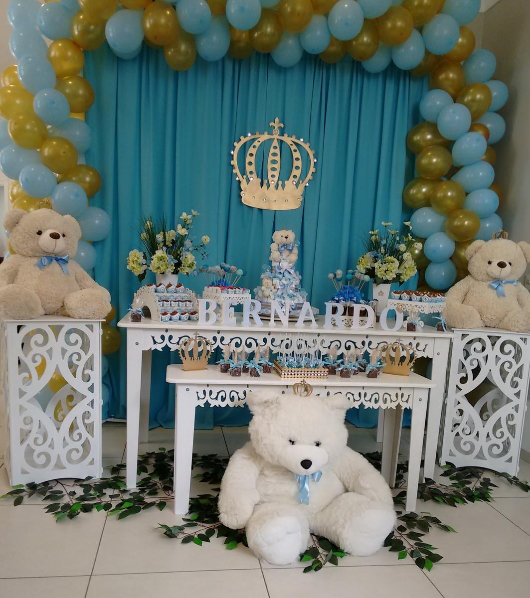 Decoraç u00e3o Chá de Beb u00ea no Elo7 Juliana Arte em Familia Decorações (5EFE83) -> Decoração Cha De Bebe Tema Urso