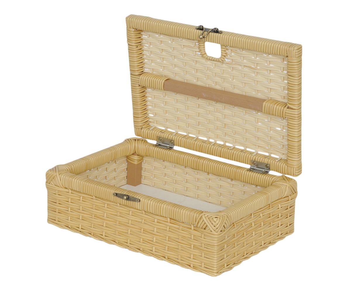 caixa cesta com tampa fibra sintetica organizadora caixa cesta com  #8F723C 1200x993