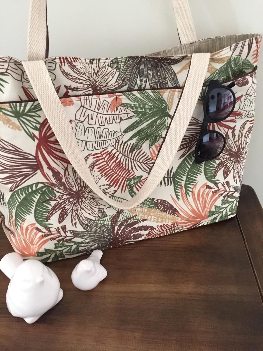 Bolsa Em Tecido Para Praia : Bolsa casual ou de praia mia elo